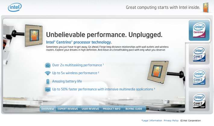 Intel Website image