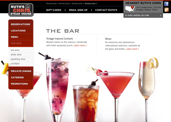 Ruth's Chris Website image